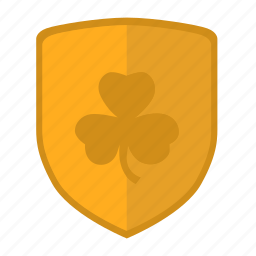 clover, ireland, leaf, shield, sign icon