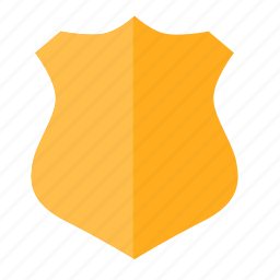 emblem, force, police, shield icon