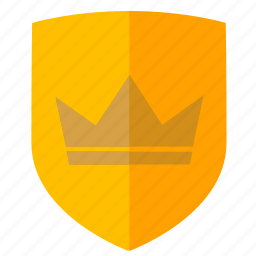 crown, force, king, safety, security, shield icon