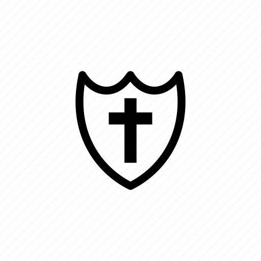 cross, protection, religion, safe, security, shield, templar icon