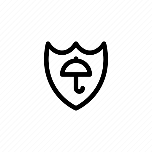farewall, guard, insurance, protection, security, shield, umbrella icon