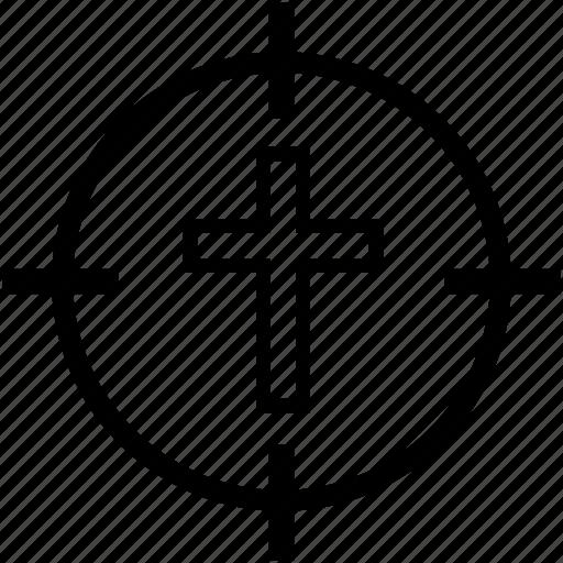 christian, cross, faith, religion icon