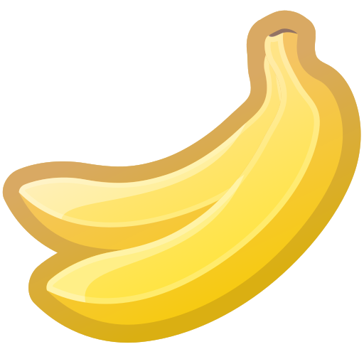 bananas, dessert, food, sweet, tropical icon