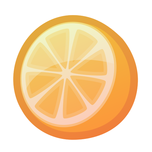 citrus, fresh, juicy, orange, tropical icon