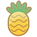 pineapple, tropical, food, fruit, sweet icon
