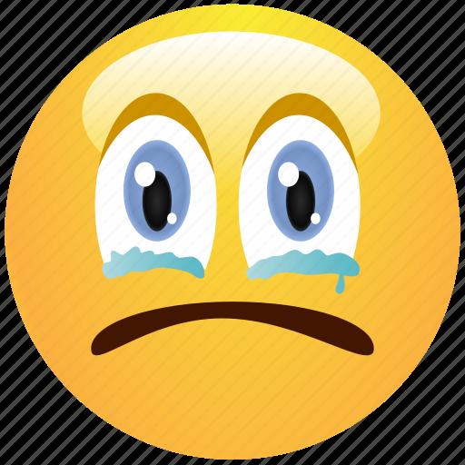 crying, emoticon, sad, smiley, tears icon