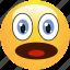 afraid, emoticon, fear, shocked, smiley, surprised icon
