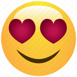 cheerful, cute, emoticon, hearts, love, smile, smiley icon