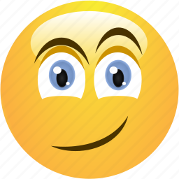 cheerful, cute, emoticon, flirty, smile, smiley icon