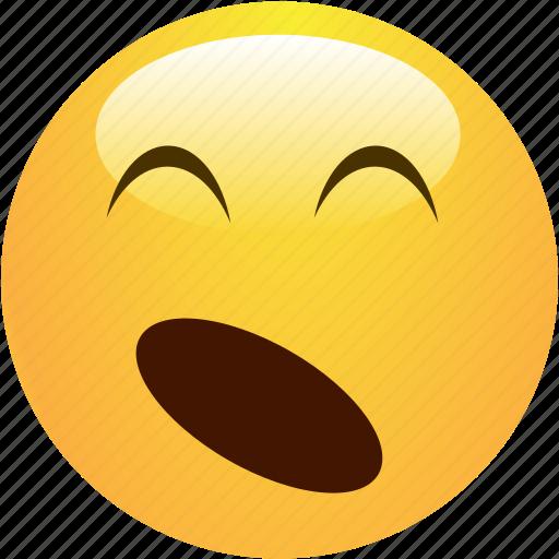 emoticon, sleepy, smiley, yawn icon