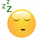 dreaming, emoticon, sleeping, smiley