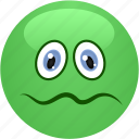 emoticon, feeling bad, smiley, vormit