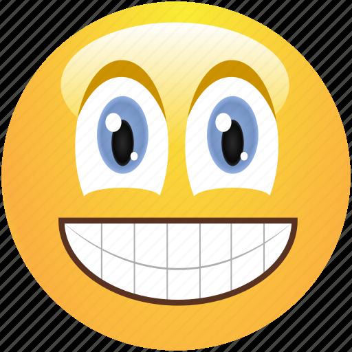 cheerful, cute, emoticon, positive, smile, smiley icon