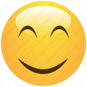 cheerful, cute, emoticon, positive, smile, smiley icon