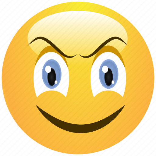 angry, emoticon, evil, menacing, sinister, smile, smiley icon