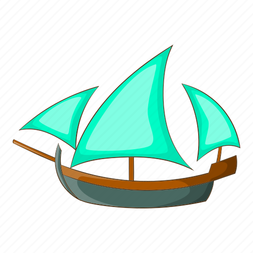 Cartoon, object, sailing, ship, sign, three, wooden icon - Download on Iconfinder