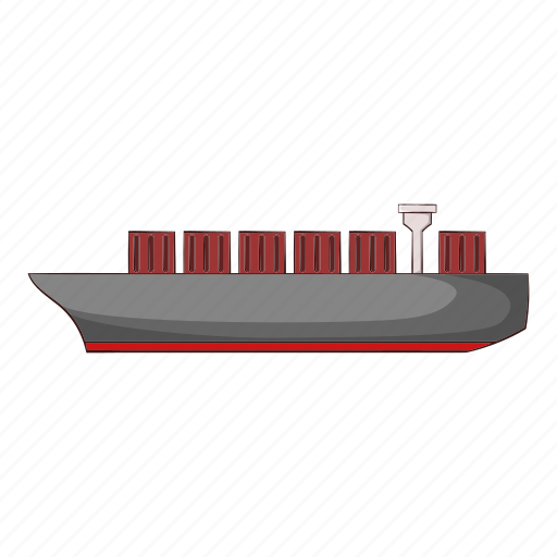 Cargo, cartoon, sea, ship, shipping, sign, transport icon - Download on Iconfinder
