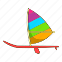 boat, cartoon, object, sail, ship, sign, sport icon