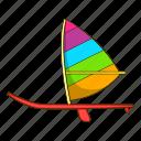 boat, cartoon, object, sail, ship, sign, sport