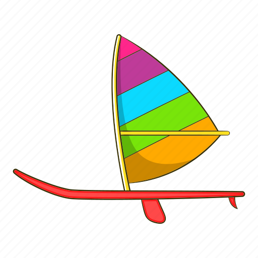 boat, cartoon, object, sail, ship, sign, sport icon