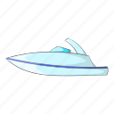 boat, cartoon, little, powerboat, ship, sign, yacht icon
