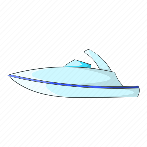 Boat, cartoon, little, powerboat, ship, sign, yacht icon - Download on Iconfinder