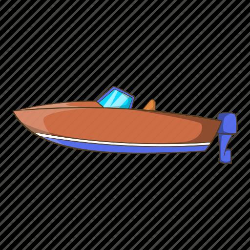 boat, cartoon, illustration, motor, object, ship, sign icon