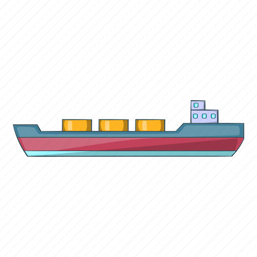 Cargo, carries, cartoon, sea, ship, shipping, sign icon - Download on Iconfinder