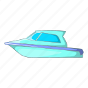 boat, cartoon, object, sea, sign, speed, yacht icon