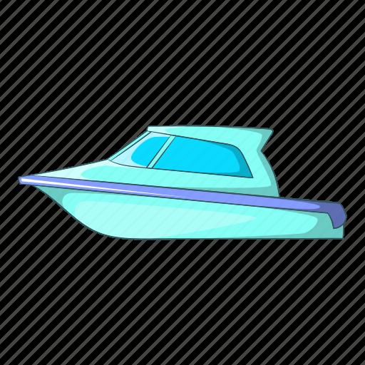 boat, cartoon, object, sea, sign, speed, yacht icon