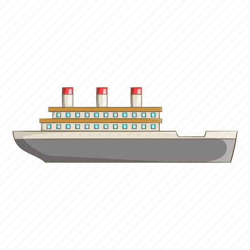 Boat, cartoon, nautical, object, sea, ship, sign icon - Download on Iconfinder
