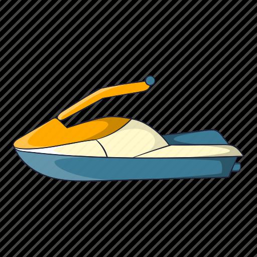 Cartoon Jet Object Sign Ski Speed Sport Icon