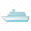 boat, cartoon, object, passenger, sea, sign, vehicle icon
