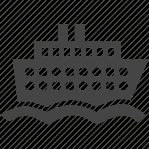 boat, sea, ship, traffic, transport icon