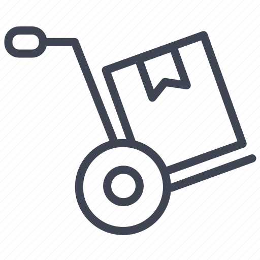 box, cart, delivery, package, shipping icon