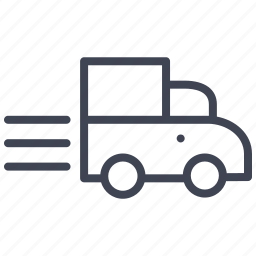 car, delivery, fast, shipping, truck, vehicle icon