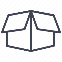 box, crate, mail, open, shipping icon