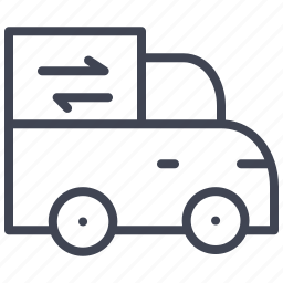 car, delivery, shipping, transportation, truck, vehicle icon