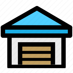 cargo, construction, goods, house, storehouse icon