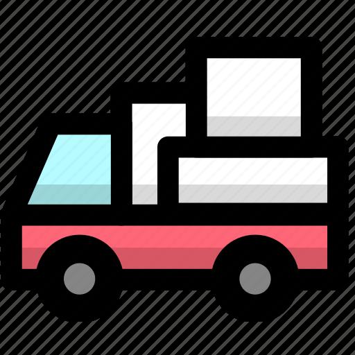 convey, haul, logistics, ship, shipping, transport, vehicle icon