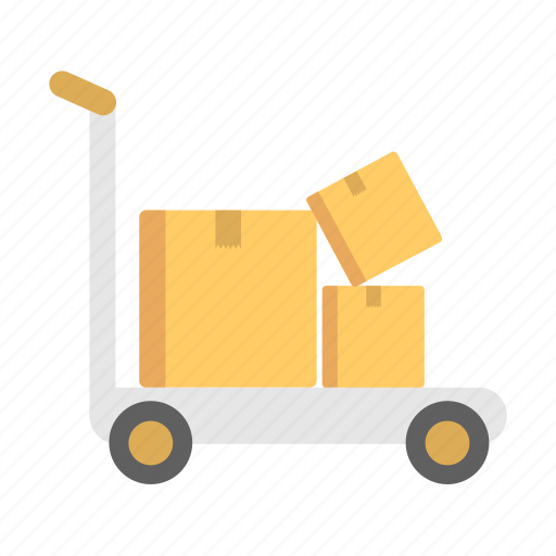 and, box, delivery, roll, shipping icon