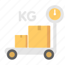 and, box, delivery, shipping, weight icon