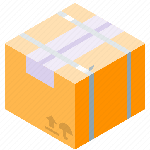 box, cardboard, delivery, twine icon