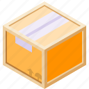 box, cardboard, frame, wood