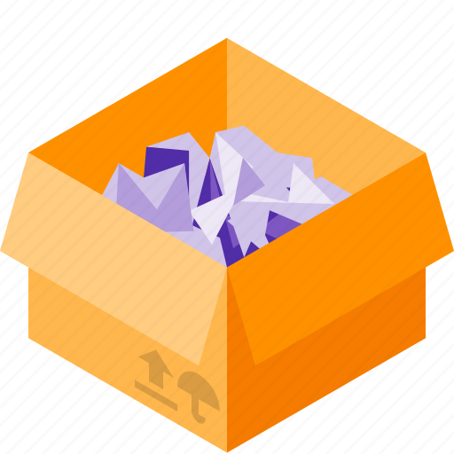 box, delivery, filler, paper icon