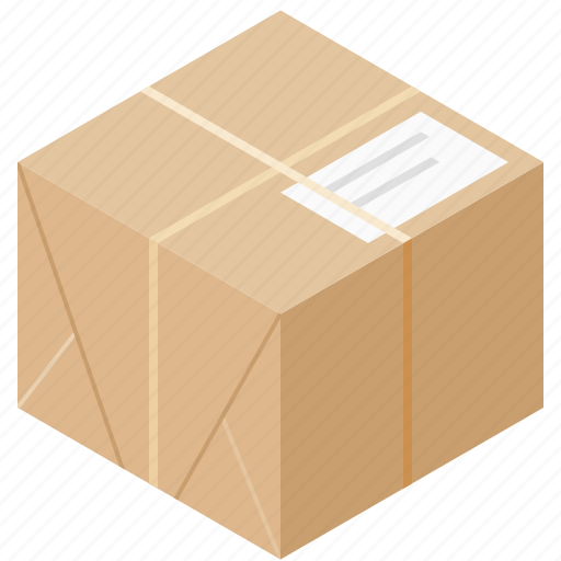 box, delivery, package, twine icon