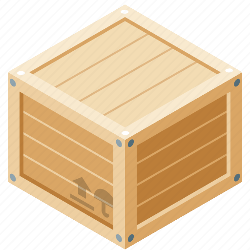 boards, box, delivery, wood icon