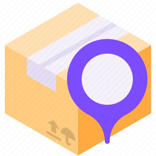 delivery, location, pin, shipping icon