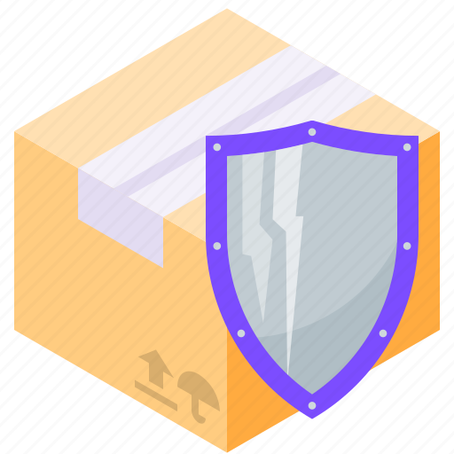 delivery, protection, shield, shipping icon
