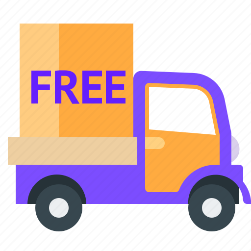 delivery, free, truck, van icon